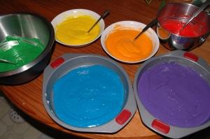 6 Bowls Of Cake Mix